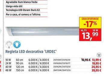 Oferta de Regleta led por 13,99€