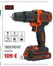Oferta de Atornillador a batería Black & Decker por 109€