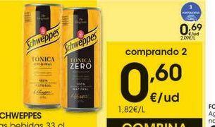 Oferta de Tónica Schweppes por 0,69€