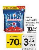 Oferta de Detergente lavavajillas Finish por 10€