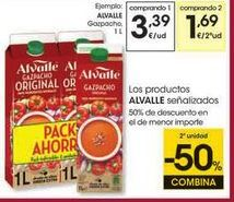 Oferta de Gazpacho Alvalle por 3,39€