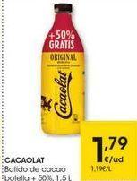 Oferta de Batido de cacao Cacaolat por 1,79€
