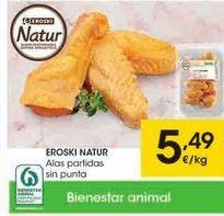 Oferta de Alas de pollo eroski natur por 5,49€