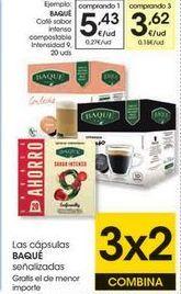 Oferta de Cápsulas de café Baqué Café por 5,43€