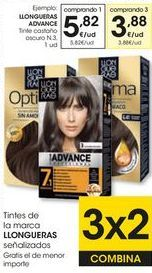 Oferta de Tinte de pelo Llongueras por 5,82€
