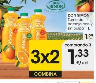 Oferta de Zumo de naranja Don Simón por 1,99€