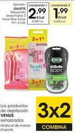 Oferta de Maquinilla desechable Gillette por 2,99€