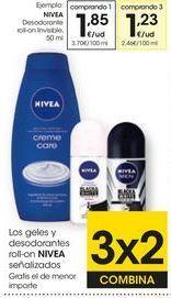 Oferta de Desodorante roll on Nivea por 1,85€