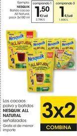 Oferta de Batido de cacao Nesquik por 1,5€