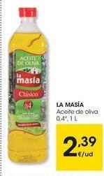 Oferta de Aceite de oliva La Masía por 2,39€