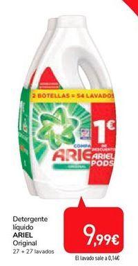 Oferta de Detergente líquido Ariel por 9,99€