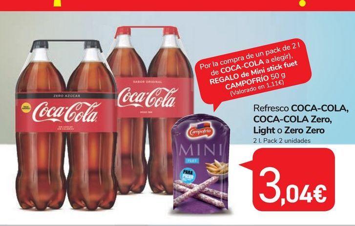 Oferta de Refresco de cola Coca-Cola por 3,04鈧�