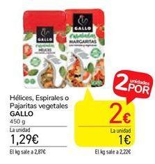 Oferta de Helices, espirales o Pajaritas vegetales  Gallo por 1,24€