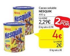 Oferta de Cacao soluble Nesquik por 2,29€