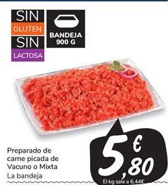 Oferta de Preparado de carne picada de vacuno o mixta por 5,8€