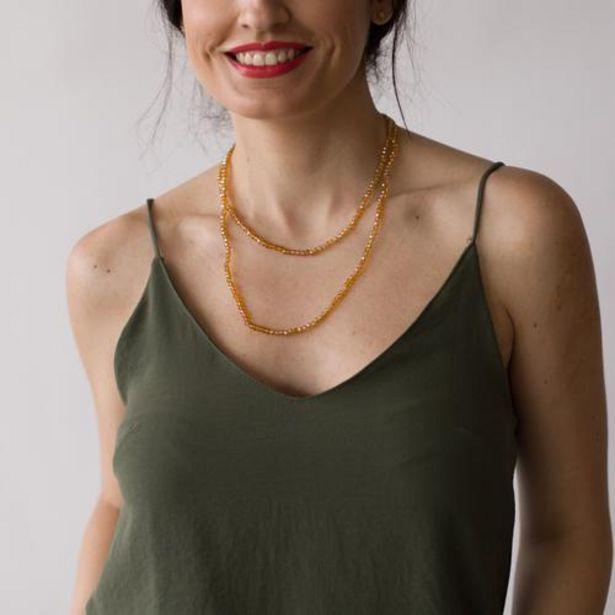 Oferta de Collar Piedrecitas Ela Ambar  por 7,99€