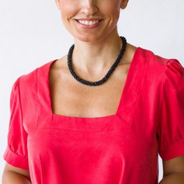 Oferta de Collar Bolitas Piedras Negro  por 9,99€