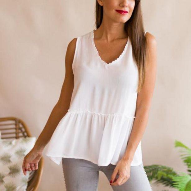 Oferta de Blusa Macondo Blanco  por 18,99€
