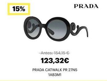 Oferta de Gafas de sol Prada por 123,32€