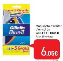 Oferta de Maquinilla de afeitar desechable GILLETTE Blue II por 6,05€
