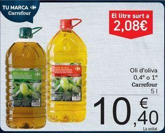 Oferta de Aceite de oliva Carrefour por 10,4€