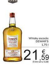 Oferta de Whisky escocés Dewar's por 21,59€