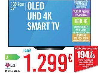 Oferta de TV OLED 55B9S LG por 1299€