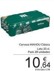 Oferta de Cerveza MAHOU Clásica por 10,64€