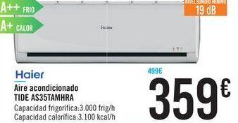 Oferta de Aire acondicionado Haier TIDE AS35TAMHRA por 359€