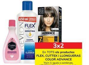 Oferta de En TODOS los productos FLEX, CUTTEX y LLONGUERAS COLOR ADVANCE por