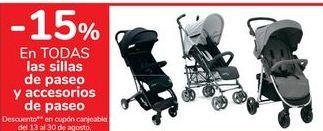 Oferta de En TODAS las sillas de paseo y accesorios de paseo  por