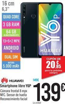 Oferta de Smartphone libre Y6P HUAWEI por 139€