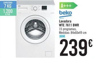 Oferta de Lavadora WTE 7611 BWR por 239€