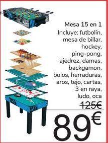 Oferta de Mesa 15 en 1  por 89€