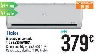 Oferta de Aire acondicionado Haier TIDE AS35TAMHRA por 379€