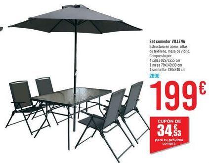 Oferta de Set comedor VILLENA  por 199€