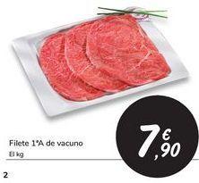 Oferta de Filete 1ª A de vacuno por 7,9€