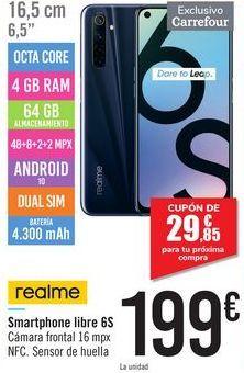 Oferta de Smartphone libre 6S Realme  por 199€