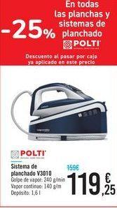 Oferta de Sistema de planchado V3010 Polti  por 119,25€