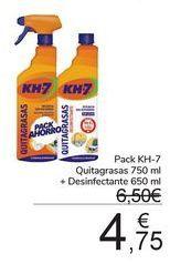 Oferta de Pack KH-7 Quitagrasas + desinfectante  por 4,75€