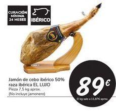 Oferta de Jamón de cebo ibérico 50% raza ibérica EL LUJO por 89€