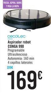 Oferta de Aspirador robot Conga 990 CECOTEC por 169€
