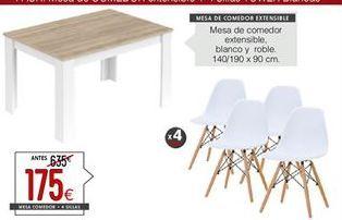 Oferta de Mesa de comedor extensible por 175€