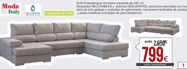 Oferta de Chaise longue rinconera  por 799€