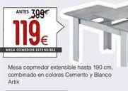 Oferta de Mesa de comedor extensible  por 119€