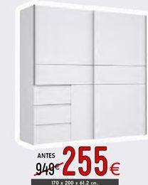 Oferta de Armario con puertas correderas por 255€