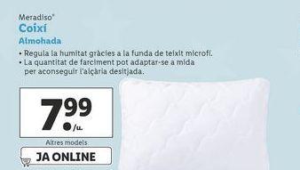 Oferta de Almohada Meradiso por 7,99€
