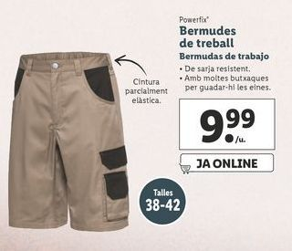 Oferta de Bermudas de trabajo Powerfix por 9,99€