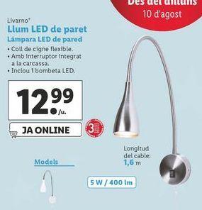 Oferta de Lámpara LED de pared Livarno por 12,99€