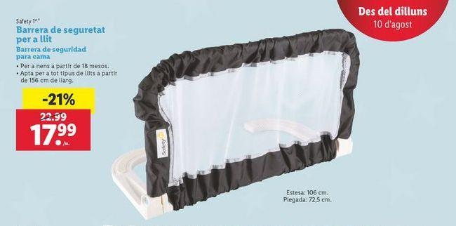 Oferta de Barrera de seguridad para cama Safety 1st por 17,99€